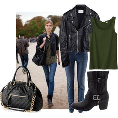 Get the look - Leather, created by saratoeppler on Polyvore