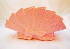 Vintage - McCoy Pink Victorian Fan Planter