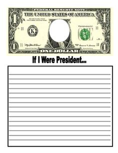 Free writing activity for Presidents' Day.