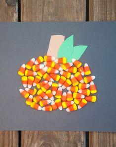 Activities: Candy Corn Pumpkin for #Halloween #preschool #kidscraft #kindergarten