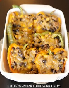 Corn & Black Bean Stuffed Peppers