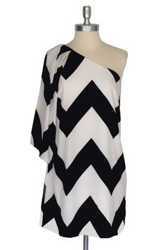 B Chevron Dress