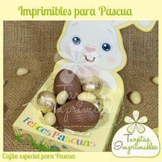 Cajita para huevos de chocolate para pascuas