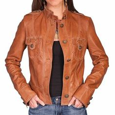 Scully Women's Soft Lamb Skin Leather Jacket