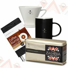 The Connoisseur. The ideal Father's Day gift set for dads with a passion for coffee: 2 lbs of Starbucks Reserve coffee, a Resaerve pour-over set, two Reserve 12 fl oz mugs and a coffee journal. $75.00 at StarbucksStore.com