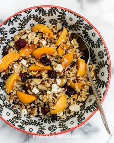 Wild Rice Salad with Apricots and Almonds, and Apricot Dressing