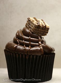 Chocolate Sour Cream Cupcakes with Chocolate Frosting