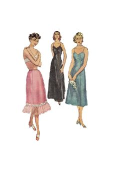 Simplicity 1950s Sewing Pattern Lingerie by AdeleBeeAnnPatterns, $14.00