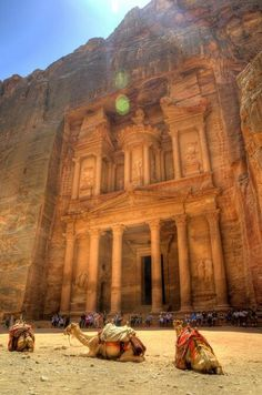 Petra, Jordan.  One of the Seven Wonders of the World.