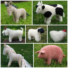 Farm Animals E-Book PDF, knitting, Instant Digital Download knitted animals, craft, babi toy, knitting patterns, farms, ebook giveaway, children toys, farm anim, amaz design