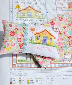Lovely cross stitch pincushion by Helen Philipps