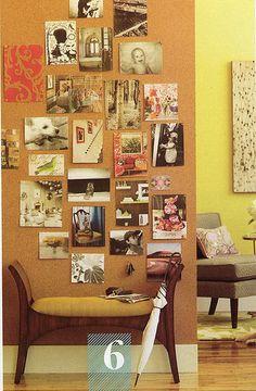 Cork wall for studio