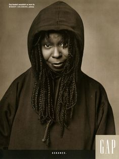"""Individuals of Style"" Gap campaign, Whoopi Goldberg, 1989."