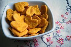 Sweet Potato Heart Crackers
