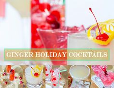 ginger cocktail collage