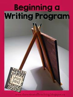 Beginning a writing program