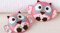 How to sew a baby felt owl