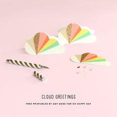 Free Printable Cloud Greetings