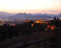 The Alhambra by Night, Granada, Spain