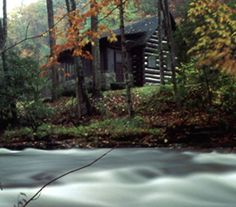 Pioneer cabin streamside at Kumbrabow State Forest