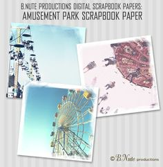 Free Printable Amusement Park Digital Scrapbook Papers