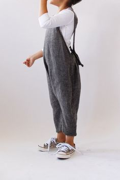 Penelope overalls. We all want a pair too. A #CanDoBaby! fave.
