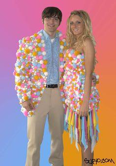 Pompom formal wear. Awesome.