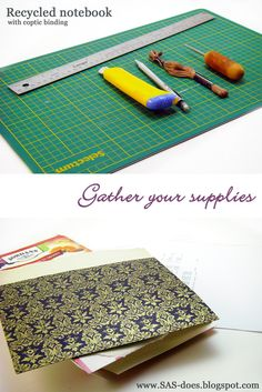 SAS does ...: Coptic Stitch Recycled notebook tutorial part 1