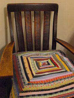 log cabin pillow cover 2 by JQ to you, via Flickr