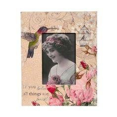 Vintage Primavera Hummingbird Photo Frame, $20 !!