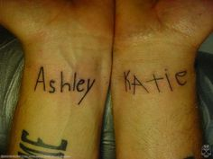 said i was gonna do this for years---at a certain age (when kids are old enough to write their name legibly) have kids write their name & have it tattooed
