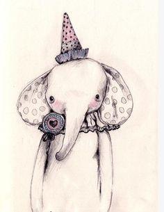 elephant illustration.i love this sweet guy
