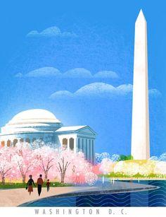 Washington Monument Illustration