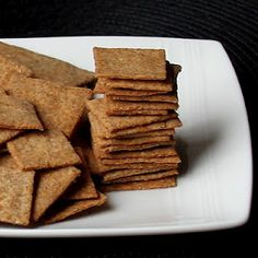Homemade Wheat Thins from Donna at Cookistry.com