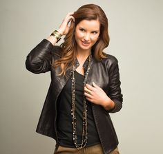 Dinner with Friends: Layer on some glitz with your fave leather jacket. #Silpada #WomensFashion