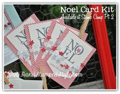 making christmas cards in a flash using the Paper Pumpkin Noel Card kit complete with all supplies needed!! http://www.handstampedstyle.com