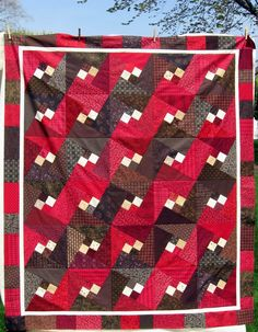 Arabic Lattice at Quilts and a Mug patchwork, lattic quilt, arab lattic, quilt inspir, quilts, quilt squar, quilt idea, halloween fabric, mugs