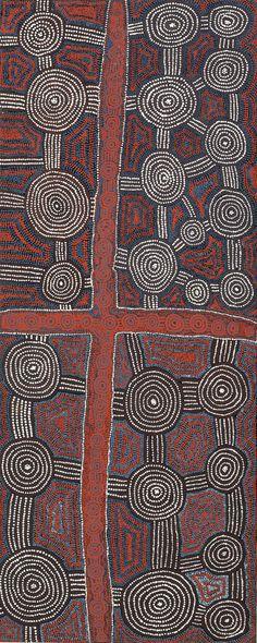 Yala Yala Gibbs Tjungurrayi / Tingari Cycle 1996 150.5 x 60.5cm
