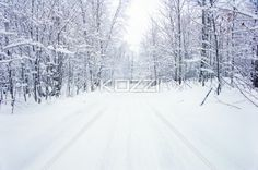 snow covered road - A Snow covered road in Haliburton, Ontario