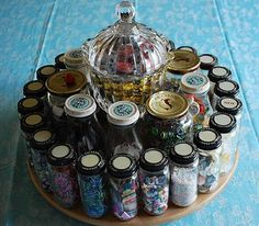 Lazy Susan for embellishment goodies