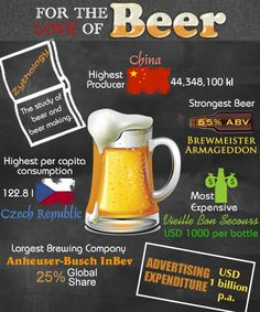 Infographic about beer