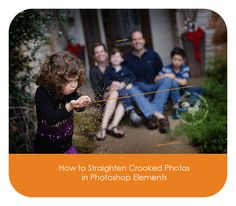 How to straighten an image in Photoshop Elements