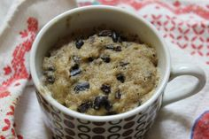 Microwave paleo cookie dough.