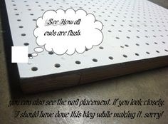 Tutorial for making a freestanding pegboard display for craft shows
