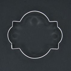"""Photo Plaque Frame 4.25"""" For Only $1.50. Click The Picture To See All of Our Plaque Cookie Cutters."""