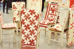 red and white tesselating