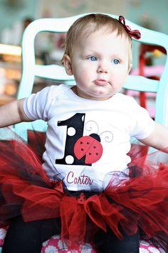 Ladybug Birthday Tutu Outfit