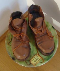 How to carve boots out of a square cake.