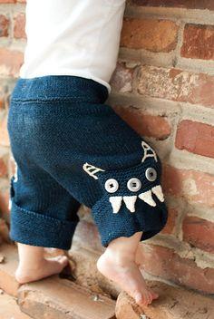 Free Knitting Pattern - Baby Knits: Chompers Pants