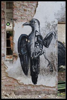 Roa - Dead Crow, Ghent